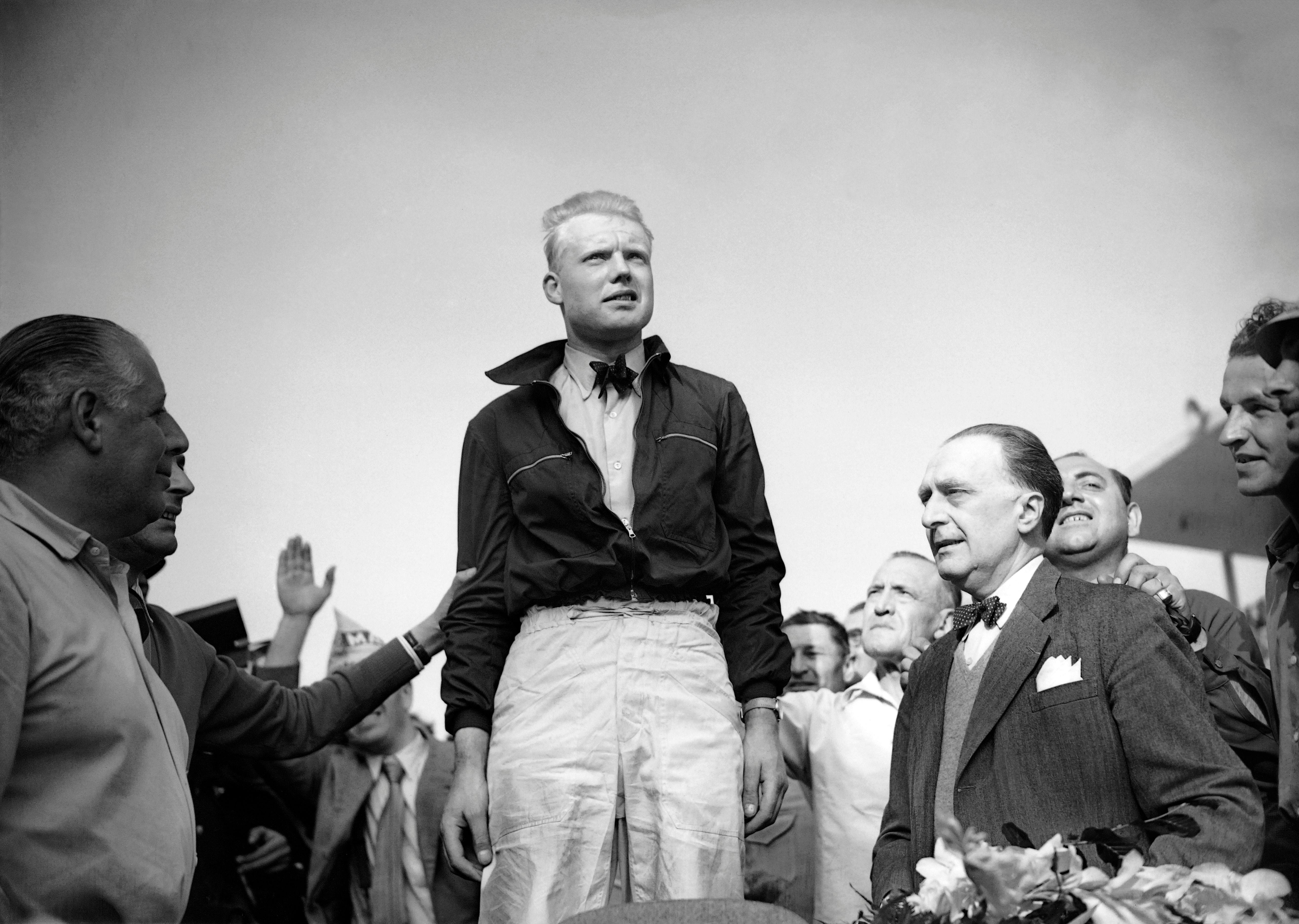 Mike Hawthorn (Ferrari) au Grand Prix de France 1953
