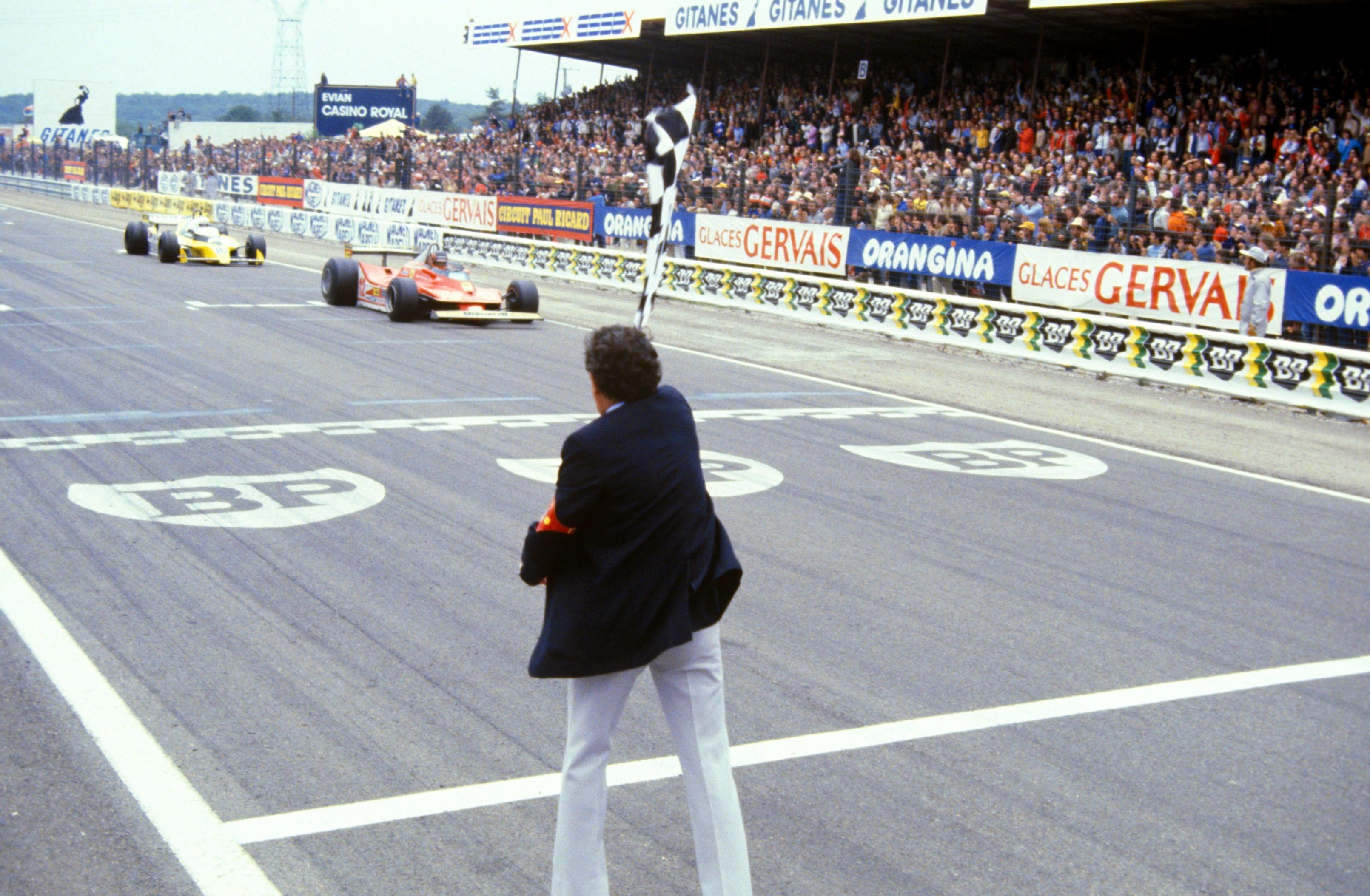 Gilles Villeneuve (Ferrari) et René Arnoux (Renault) au Grand Prix de France 1979