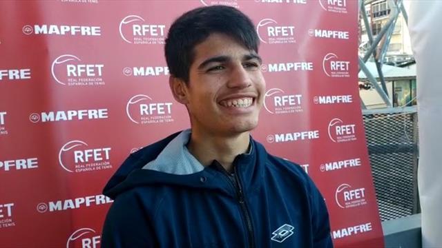 """Murcia Open Challenger, Alcaraz: """"Es una alegría saber que puedo enfrentarme a estos jugadores"""""""