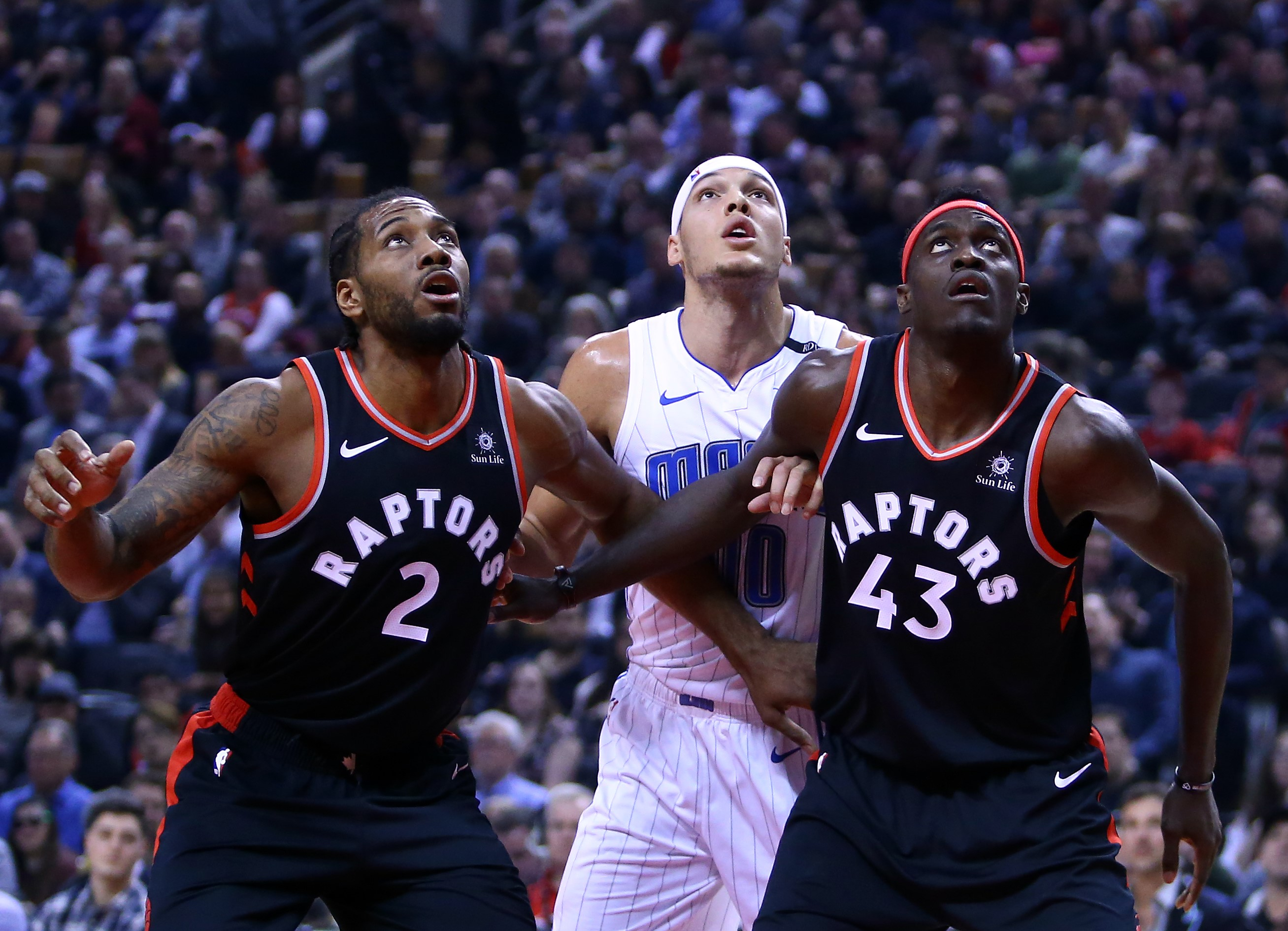Kawhi Leonard, Pascal Siakam (Toronto Raptors) & Aaron Gordon (Orlando Magic)