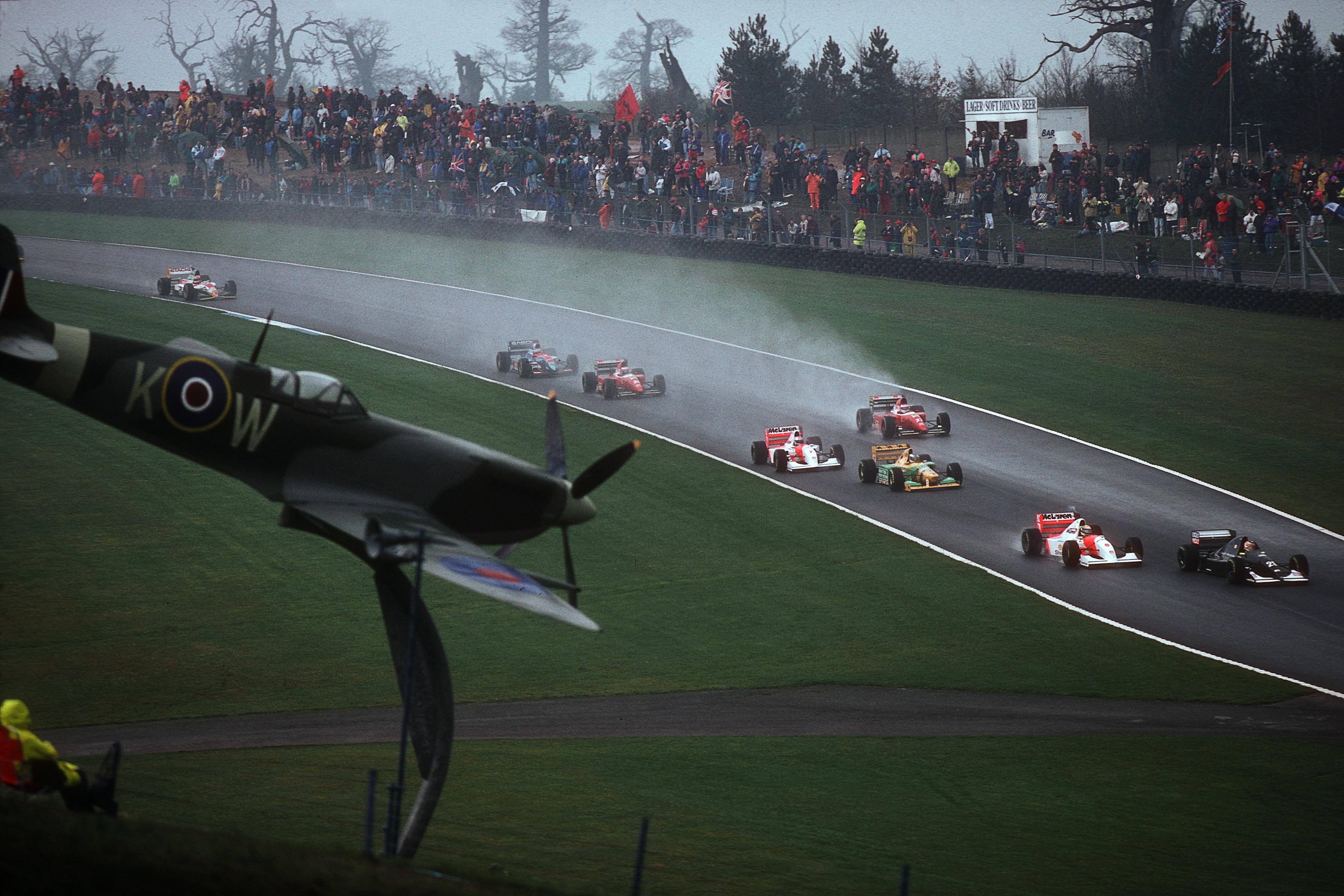 Ayrton Senna (McLaren) au Grand Prix d'Europe 1993