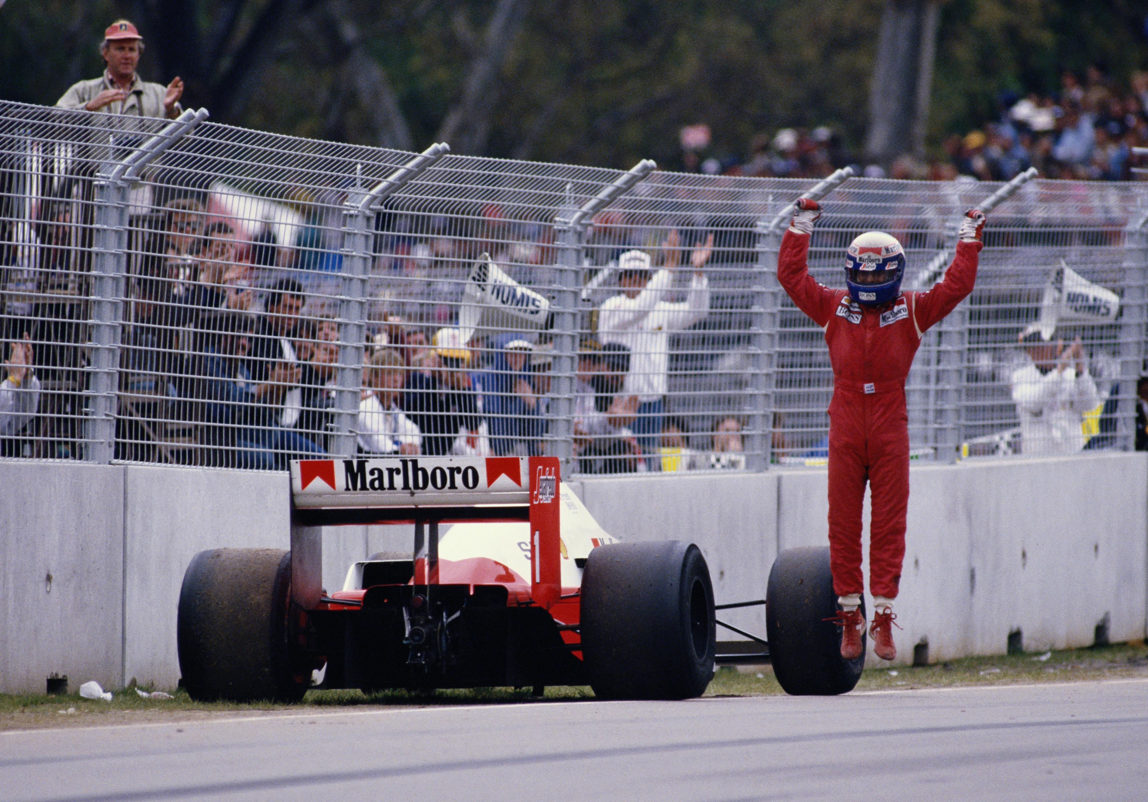 Alain Prost (McLaren) au Grand Prix d'Australie 1986