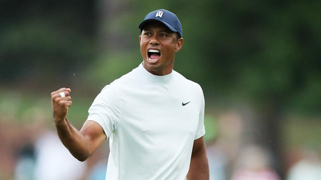 Tiger shrugs off injury scare to sit one off the lead at the Masters