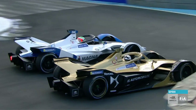 Da Costa and Lotterer close to crashing during FP1