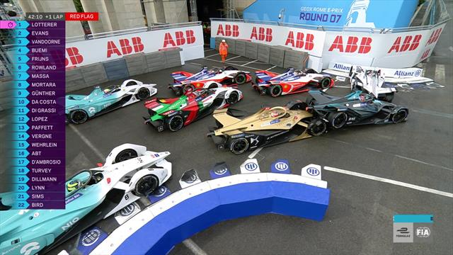 'Absolute chaos!' - Formula E race halted after massive pile-up