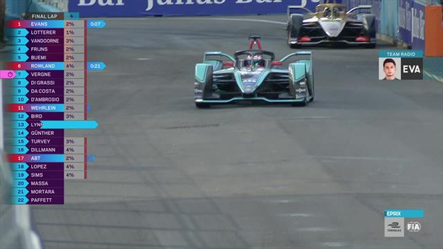 Watch the final lap of the Rome E-Prix