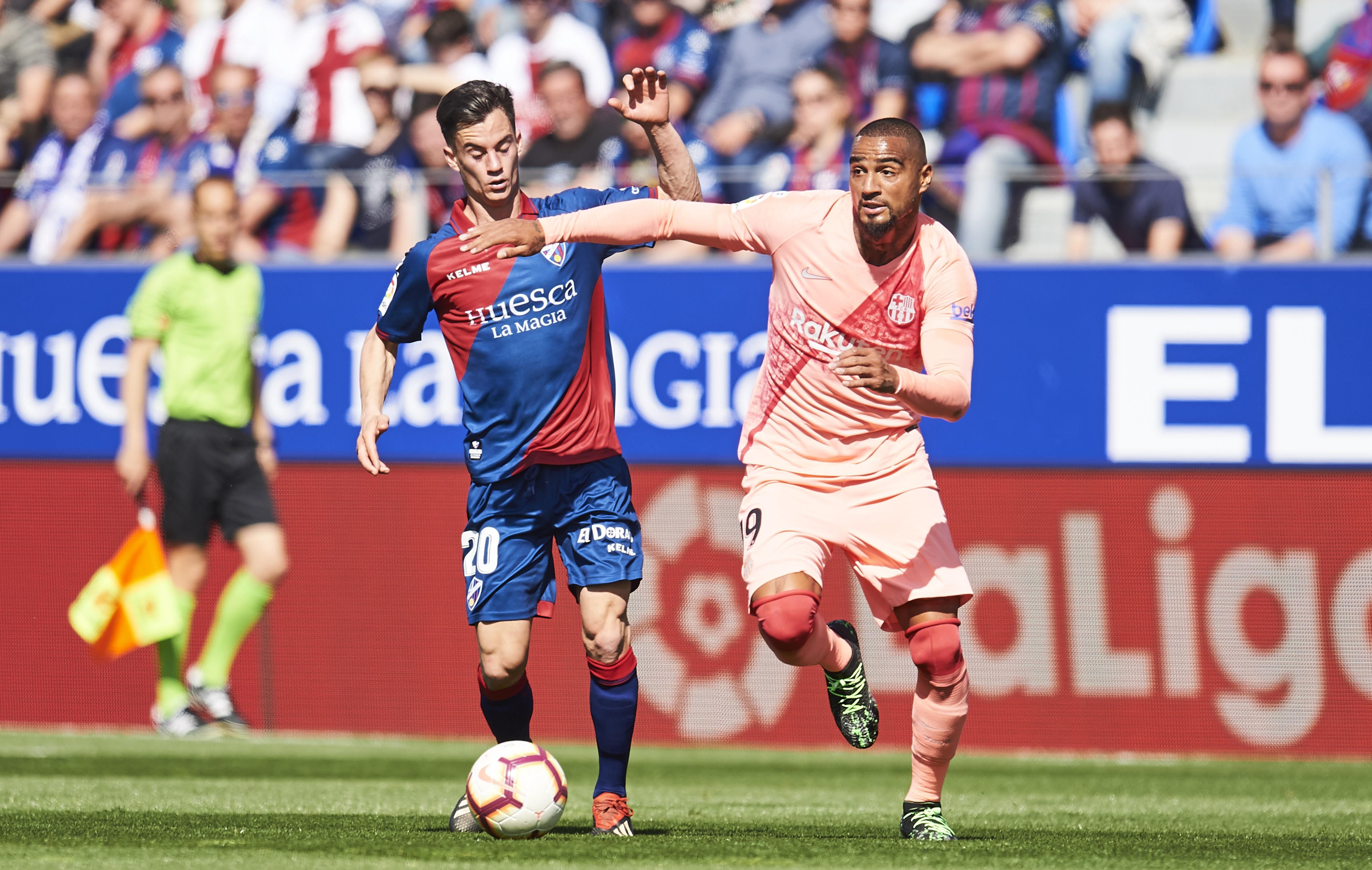 Kevin-Prince Boateng lors de la rencontre Huesca-FC Barcelone / Liga