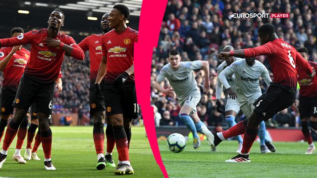 Highlights: Pogba gav United livsvigtige point i kampen om top fire