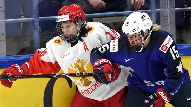 Россия пропустила 8 шайб от США и сыграет за бронзу женского ЧМ с Канадой