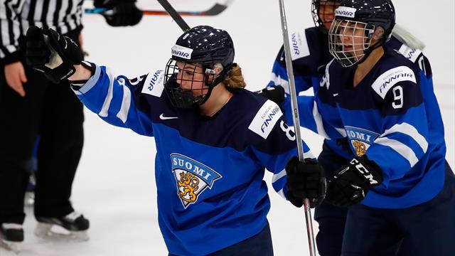 Eishockey-WM: Finnische Frauen sensationell im Finale gegen die USA