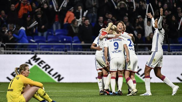 Lyon met le PSG à terre et file vers le titre