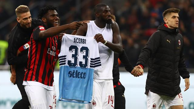 Six fined after Milan-Lazio brawl, no action in shirt-swapping row