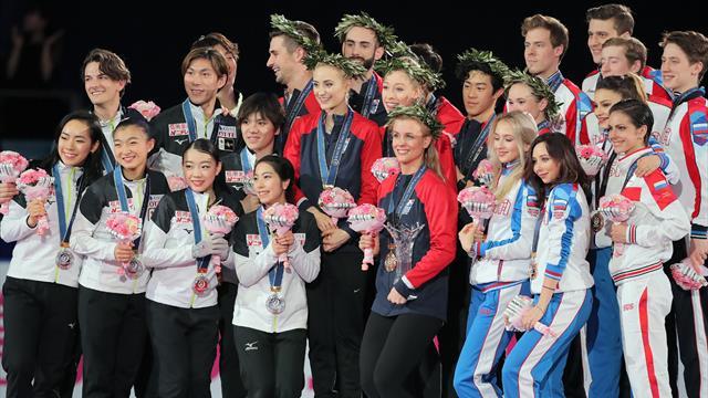 USA gewinnen World Team Trophy der Eiskunstläufer