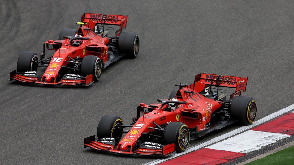 Sebastian Vettel, Charles Leclerc (Ferrari) - GP of China 2019