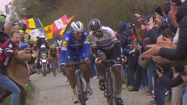 París-Roubaix 2019: Hombro con hombro y casi a cabezazos, así fue la pelea Sagan vs Gilbert