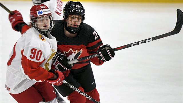 Россия заняла четвертое место на женском ЧМ. Команда проиграла США и Канаде со счетом 0:15