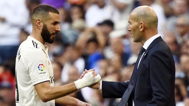 """Zidane : """"Benzema n'est pas un numéro 9"""""""