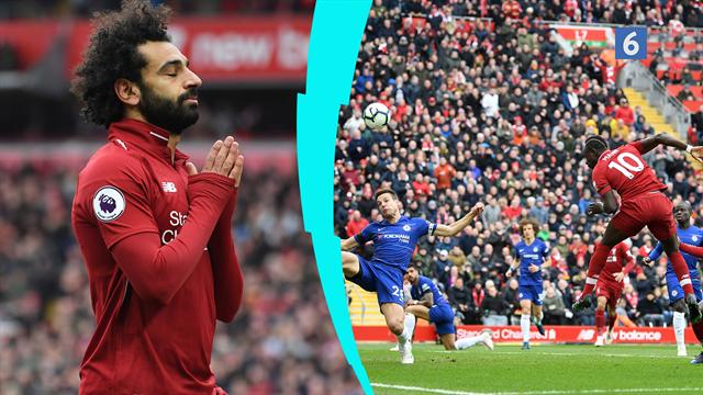 Highlights: Salah med dommedagsdrøn sender Liverpool tilbage på førstepladsen
