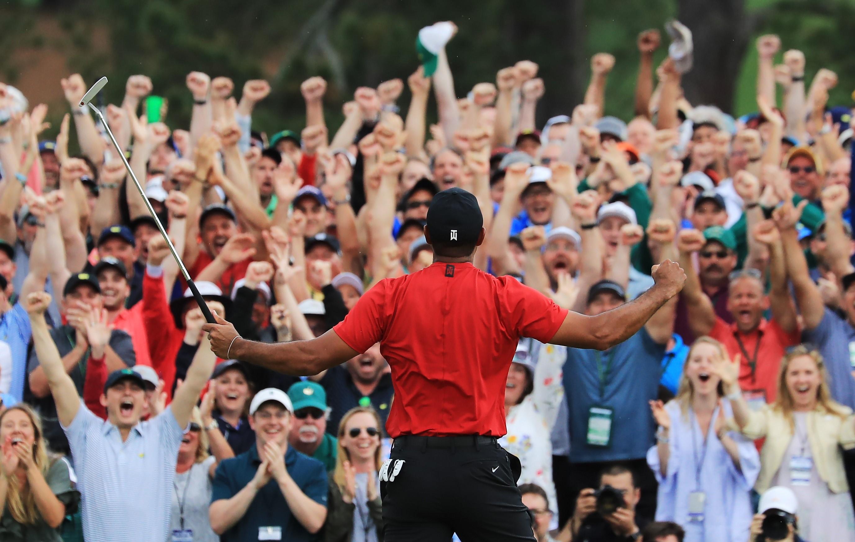 Tiger Woods à Augusta en 2019.