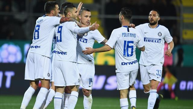 L'Inter espugna Frosinone e consolida il terzo posto: 3-1 allo Stirpe