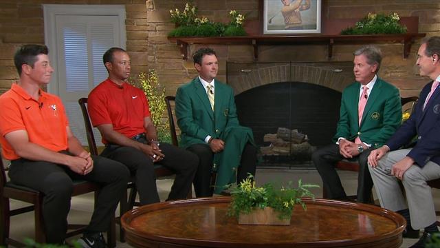 Her er nordmannen i studio sammen med golf-legenden Tiger Woods