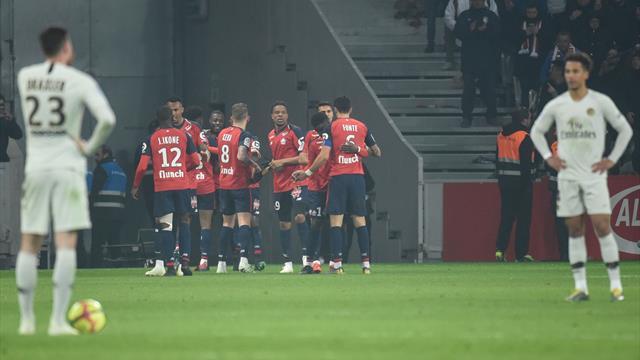 Dai sogni di festa all'incubo: notte fonda per il PSG che perde 5-1 a Lille