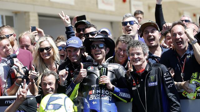 """Rossi: """"Quando ho visto Marquez cadere, pensavo di poter vincere. Ma Rins ne aveva di più"""""""