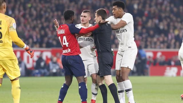 À la mi-temps, les Parisiens enrageaient surtout contre l'arbitrage