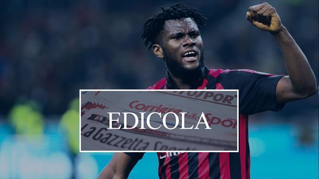 Edicola: Kessié recidivo e il Milan pensa alla cessione, Inter su Gundogan