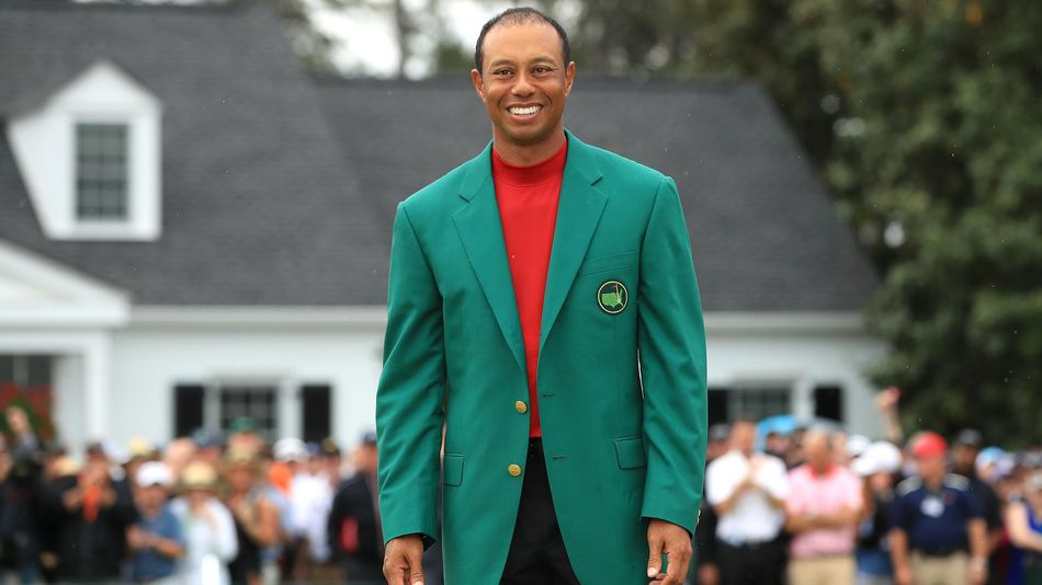 Tiger Woods in the Green Jacket.