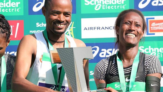 Marathon van Parijs   Milaw en Burka zorgen voor Ethiopische dubbel