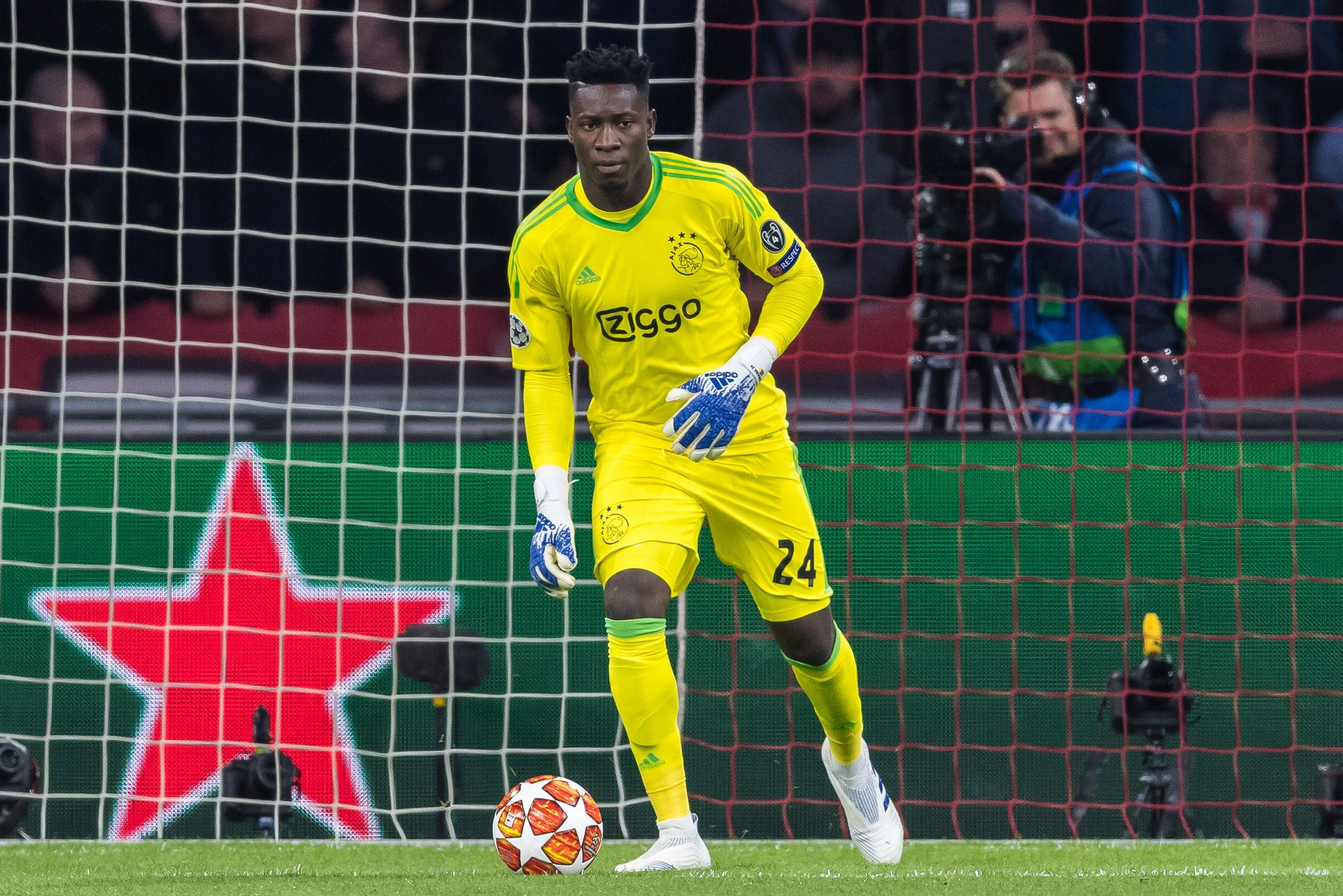 Andre Onana lors de Ajax - Juventus en Ligue des champions le 10 avril 2019