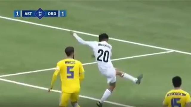 Сравни голы-клоны Жангылышбая и Бергкампа. Это не шутка, а мастерство футболиста из Казахстана