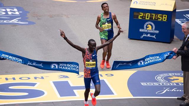 Marathon de Boston : un sprint de folie et Cherono a maté Desisa