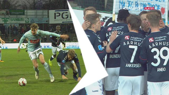Highlights: Mortensen-scoring sender AGF på kurs mod en ny Superliga-sæson