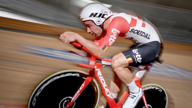👁💪 Victor Campenaerts logra batir el récord de la hora (55'089 kms)