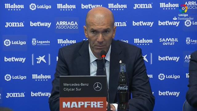 Zidane, tras el empate en Leganés: Tenemos que dar un poco más todos