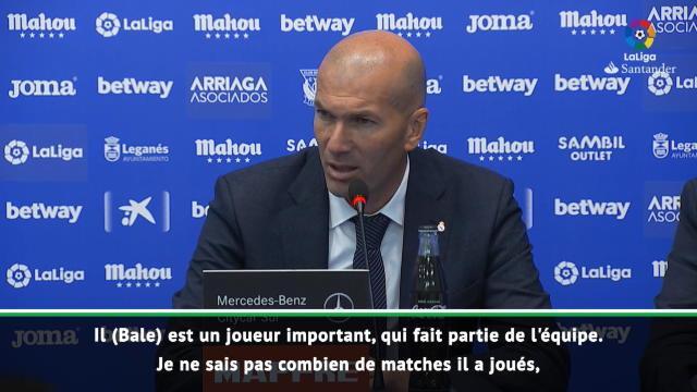 32e j. - Zidane évoque le cas Bale