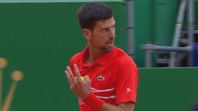 L'énervement de Djokovic malgré un jeu très important remporté au 1er set