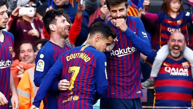 El Barça con Sergi Roberto y Coutinho; el United sin Lukaku ni Matic