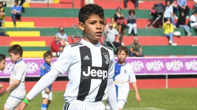 Cristiano Jr, como su padre: ¡12 goles en dos partidos con la Juventus!