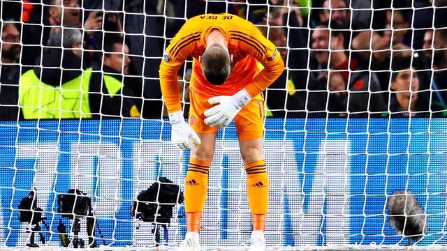 La red se ceba con De Gea tras su grosera cantada ante el Barça