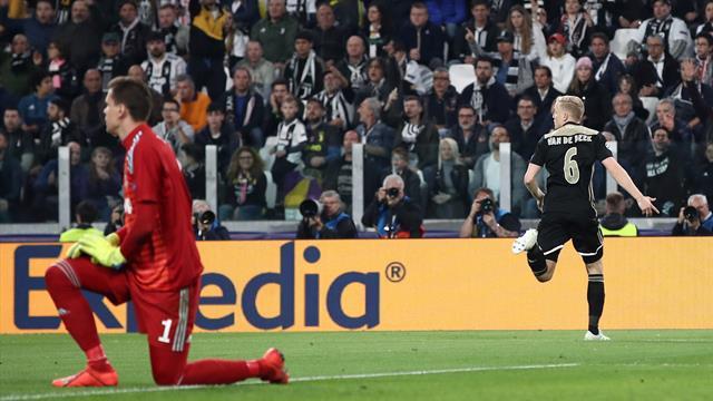 Le pagelle di Juventus-Ajax 1-2: Ronaldo ultimo a mollare, male Bonucci e Rugani. Van De Beek show