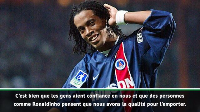 "Pochettino : ""Si Ronaldinho dit que nous allons la gagner..."""