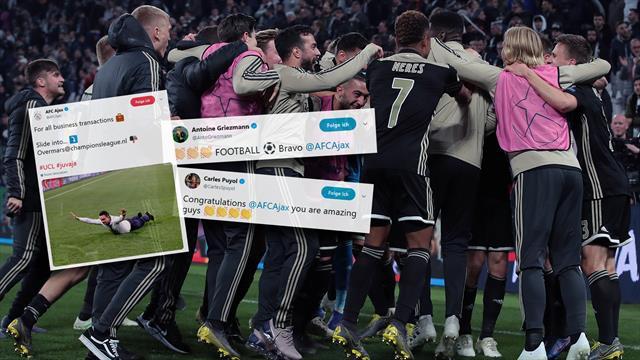 Netzreaktionen: Griezmann und Puyol feiern Ajax