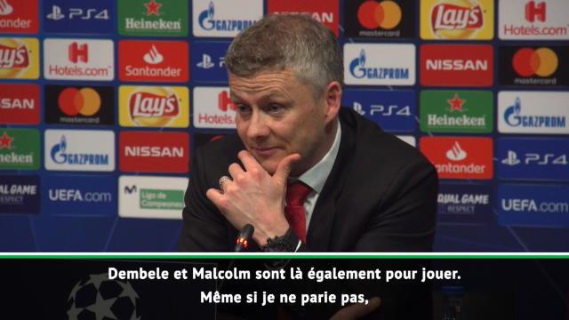 """Solskjaer : """"Barcelone va gagner la Ligue des Champions"""""""