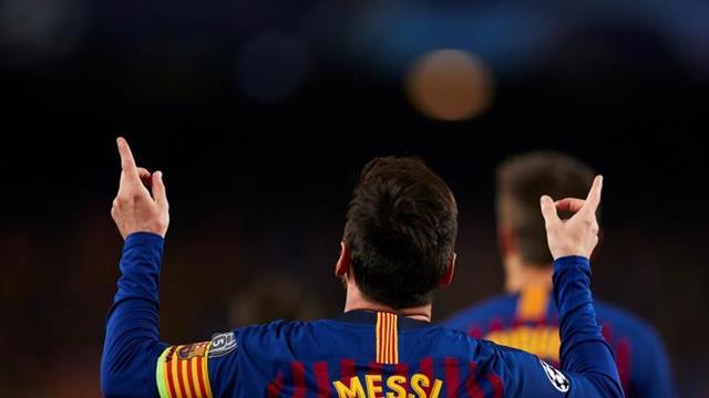 2-0. Un doblete de Messi acerca al Barcelona a semifinales al descanso