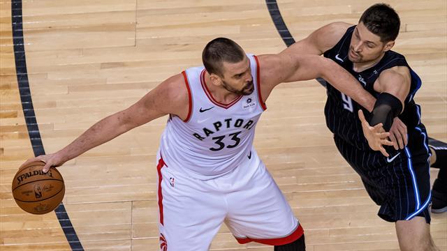 🏀 La intensidad de Marc Gasol lleva a Toronto Raptors a igualar la serie ante Orlando (111-82, 1-1)
