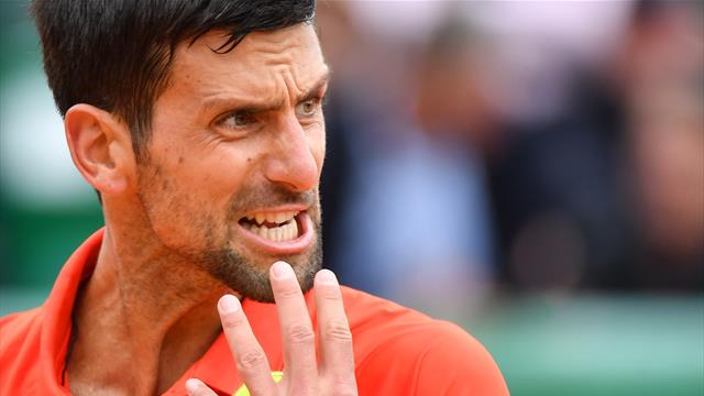 Djokovic destroys racket and throws another in Monte Carlo