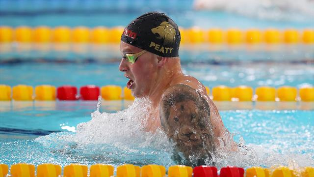 Peaty set for worlds with year's fastest 100m breaststroke